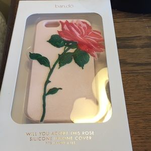 NIB ban.do Rose Silicone iPhone Case 6/6S Pink